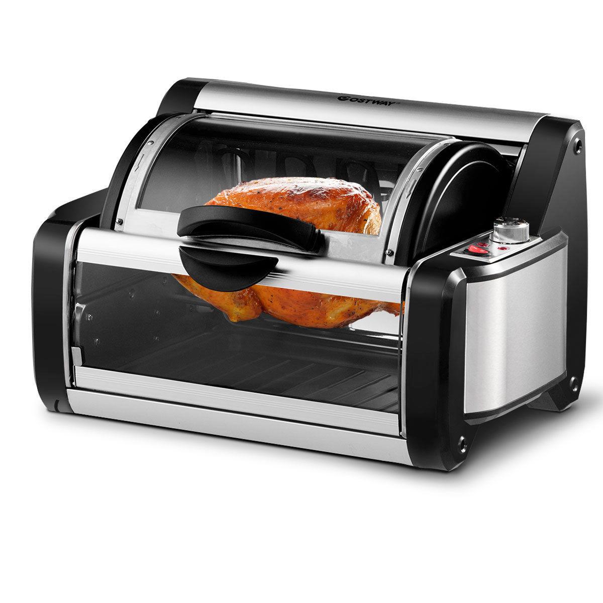 Costway Horizontal Rotating Rotisserie Oven Grill Shawarma Machine Kebob Skewer Roaster