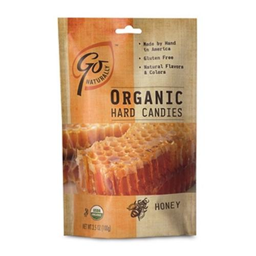 Go Naturally Organic Hard Candies Honey 3.5 oz bag:  6ct