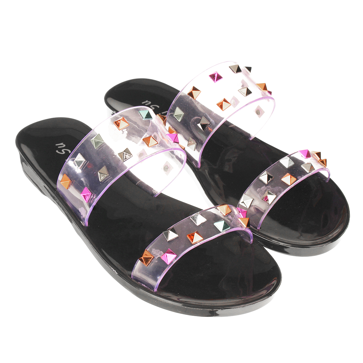 Moonker Girls Summer Sandals Slides Women High-Heel Shoes Casual Single Shoes Wild Sandals Stiletto Ladies Flip-Flops