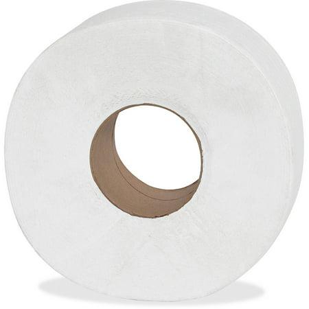 Genuine Joe 2-Ply Jumbo Roll Dispenser Bath Tissue, 12 count