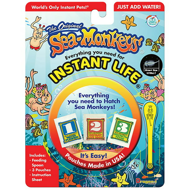 The Original Sea Monkeys Instant Life Kit Everything You Need To Hatch Sea Monkeys Walmart Com Walmart Com