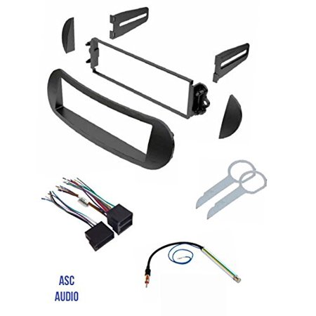 ASC Car Stereo Dash Kit, Wire Harness, Antenna Adapter, and Radio Tool for Installing a Single Din Radio for 1998 1999 2000 2001 2002 2003 2004 2005 2006 2007 2008 2009 2010 VW Volkswagen Beetle