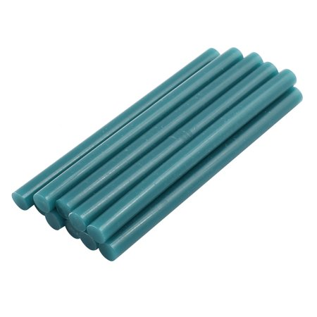 10Pcs Lake Green 7mm Dia Soldering Iron Hot Melt Glue Stick 100mm Length