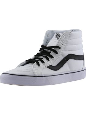 5dc1d9caa0b68b Vans Sk8-Hi Reissue Canvas True White   Black Ankle-High Fashion Sneaker -