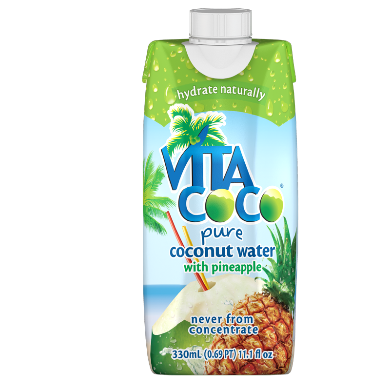 Vita Coco Coconut Water, Pineapple, 11.1 Fl Oz, 12 Count