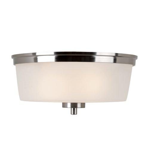 Trans Globe Lighting  70335  Ceiling Fixtures  Frosted Shade  Indoor Lighting  Flush Mount  ;Brushed Nickel