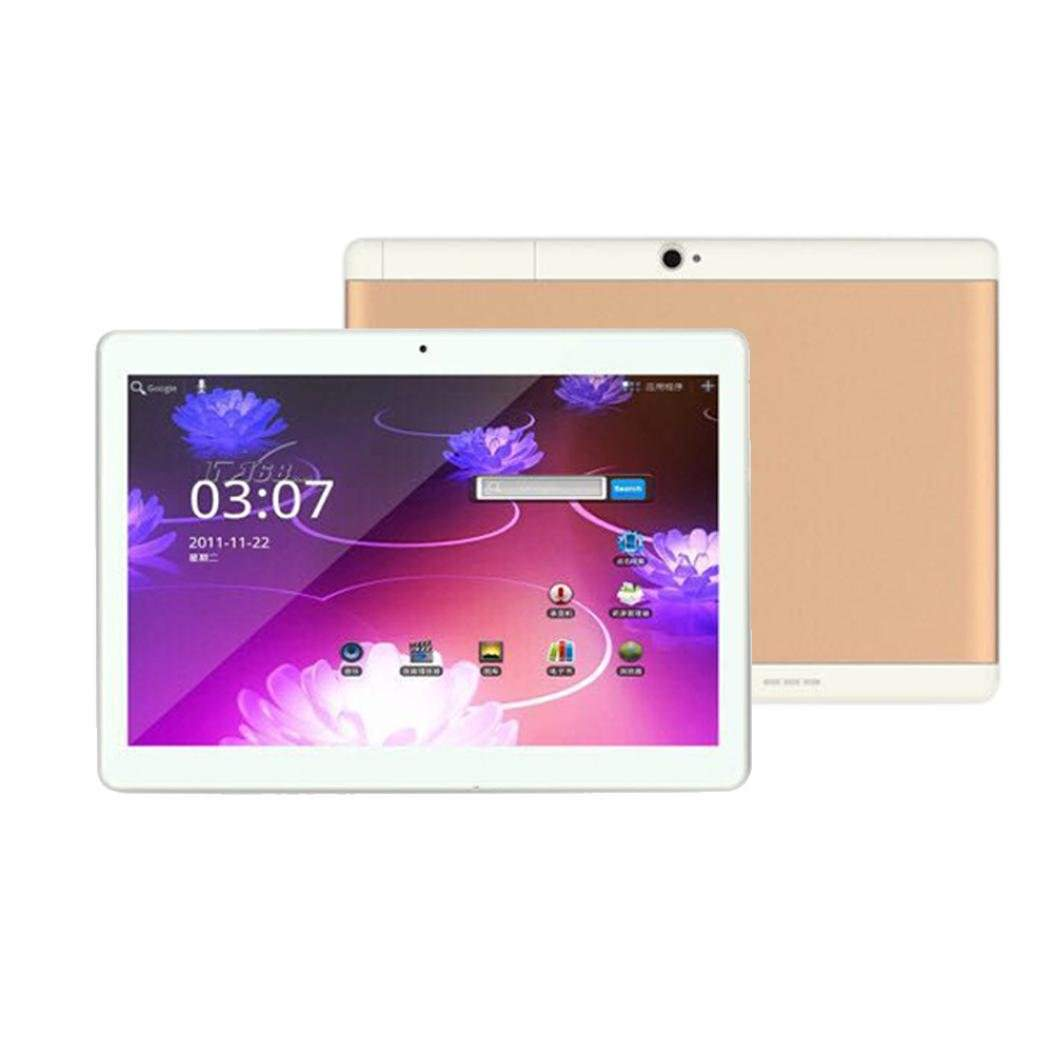 10.1 Inch Squad Marketing Android 6.0 Octa Core 4+64G 2 SIM 4G HD Blutooth 4.0 Tablet PC (Gold),SK2039003