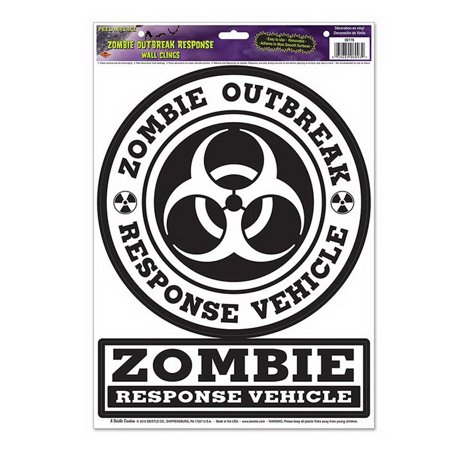 Party Place Costumes (Beistle Company 00176 Zombie Outbreak Response Peel N)