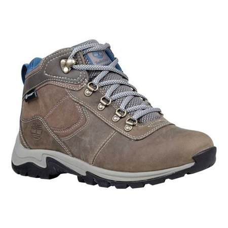 Women's Timberland Mount Maddsen Mid Leather Waterproof Boot Grey Hiking Boots