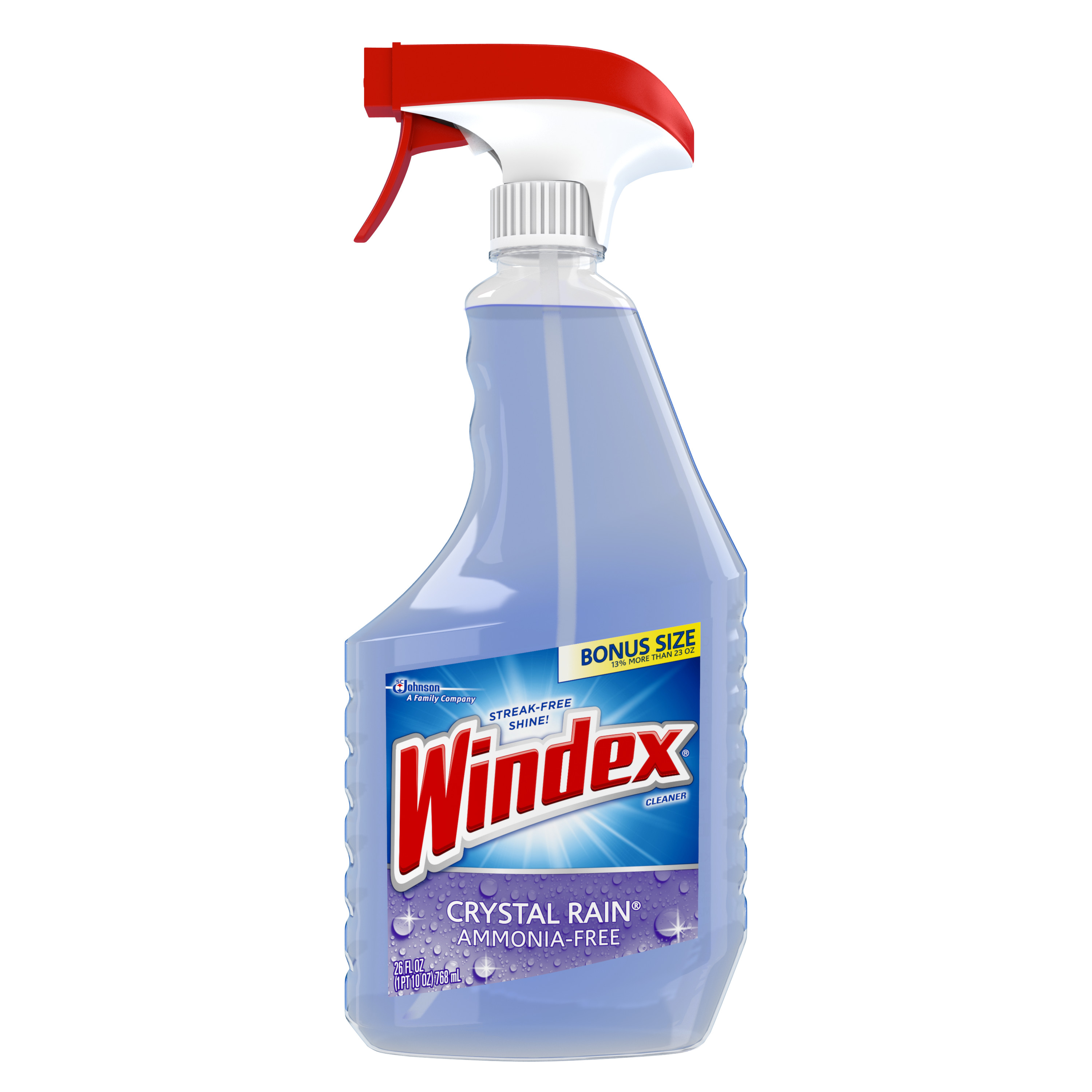 Windex Crystal Rain Glass Cleaner Trigger 26 Fluid Ounces