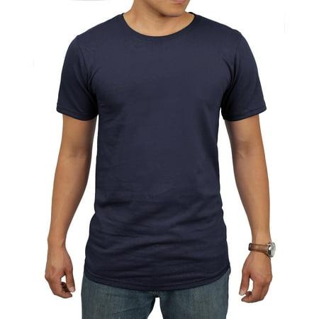 Men's Longlined Hip Hop Crew Neck T-Shirts](Hip Hop Ideas)