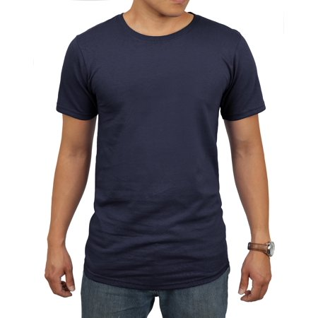 Men's Longlined Hip Hop Crew Neck T-Shirts