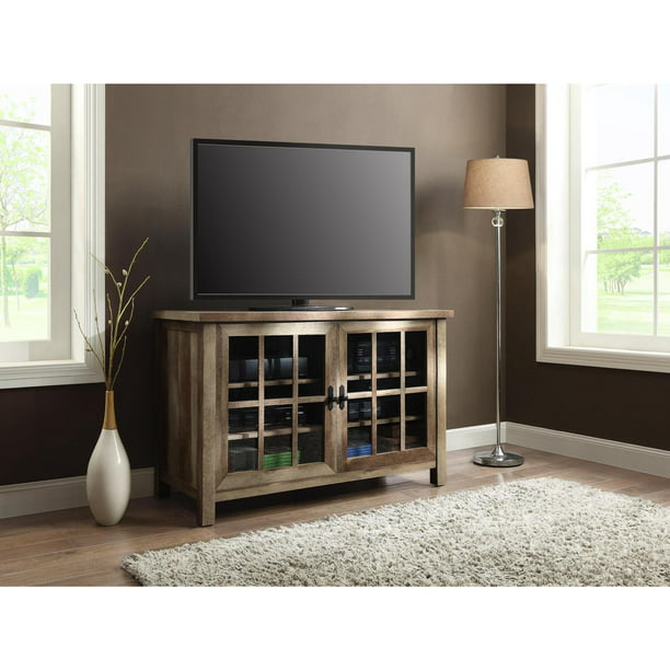 "Better Homes & Gardens Oxford Square TV Stand for TVs up to 55"", Weathered"