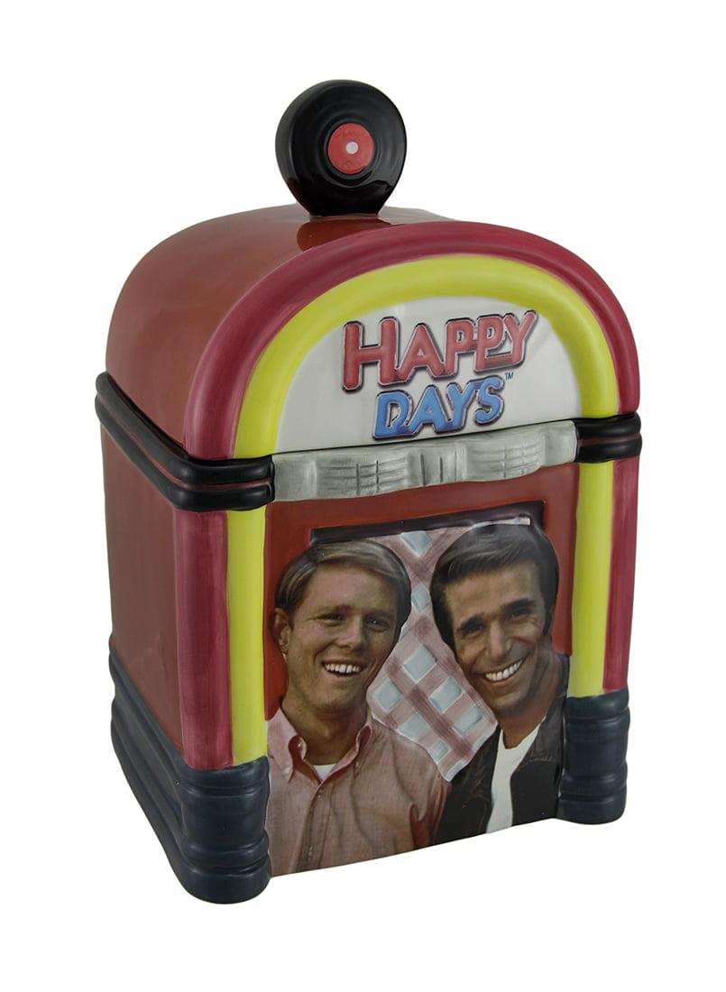 Happy Days Fonzie and Richie Jukebox Ceramic Cookie Jar by B G SALES INC.