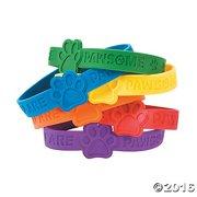 Paw Print Rubber Bracelet - Jewelry - 24 Pieces