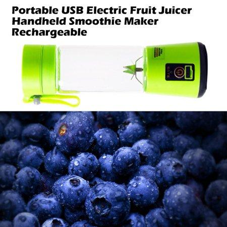 Portable Size USB Electric Fruit Juicer Handheld Smoothie Maker Blender Rechargeable Mini Portable Juice Cup Water - image 5 de 7