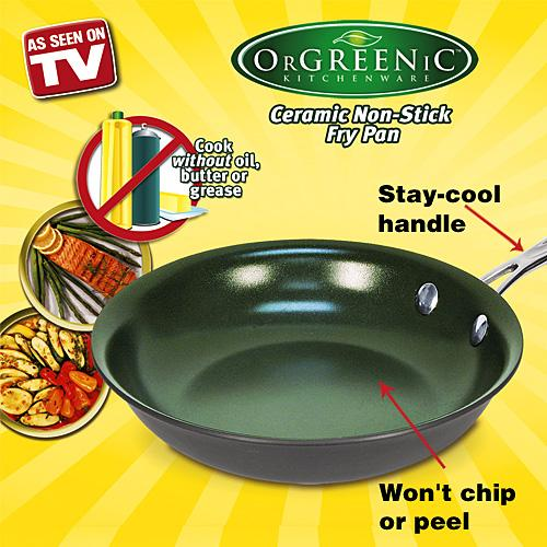 "As Seen on TV OrGREENic 10"" Frying Pan"