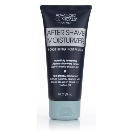 Advanced Clinicals Mens After Shave Moisturizer cream with Aloe Vera, Jojoba Oil, and Witch Hazel. Great post-shave moisturizer for razor burn or bumps. 2oz tube.