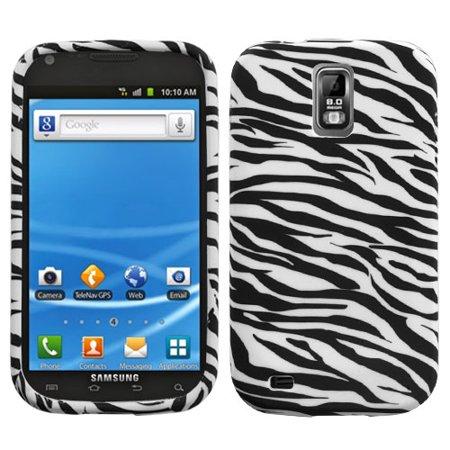 For T989 Galaxy S II Zebra Skin Silicone Candy Skin Protector Cover Case - Laser Silicone Skin Zebra