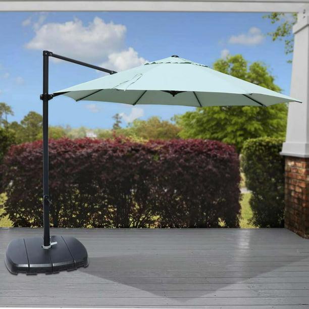 Threshold 75lb 11 Ft Cantilever Round Offset Patio Umbrella With Base Azure Set Target 379 Walmart Com Walmart Com