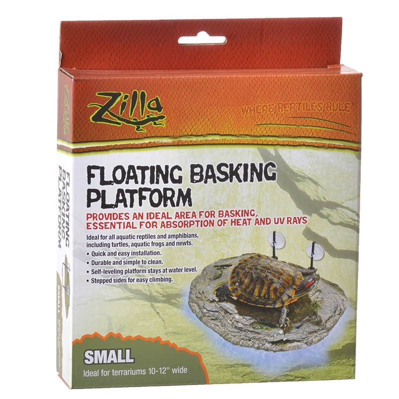 "Zilla Floating Basking Platform Small - (For Terrariums 10""-12"" Wide) - Pack of 6"