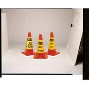 Rockford Silk Screen Process Traffic Cone Collar, Yellow w/Black Lettering CS-13