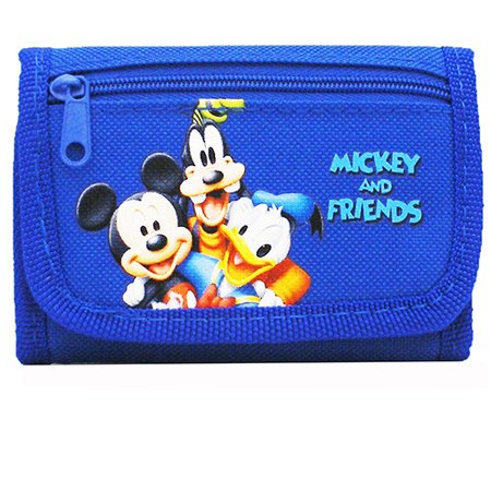 Mickey Mouse and Friends Authentic Licensed Blue Trifold Wallet
