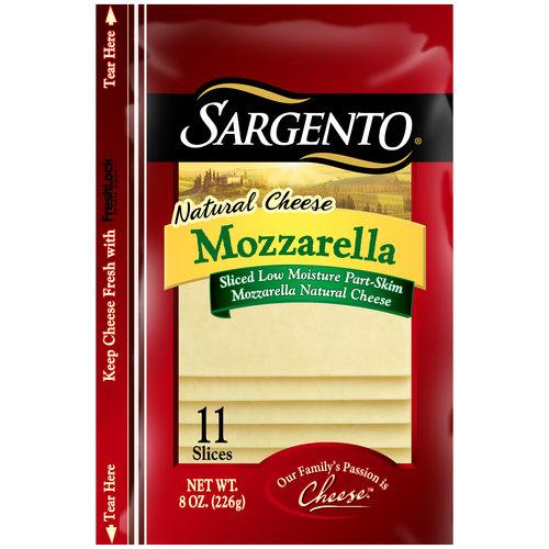Sargento Mozzarella Sliced Natural Cheese, 11 count, 8 oz