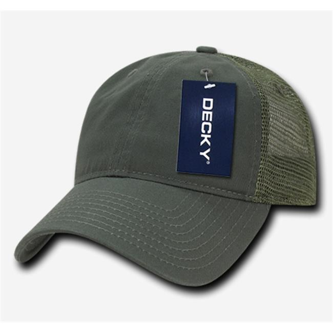 Decky Trucker Hats: Decky 120-OLV Relaxed Trucker Caps