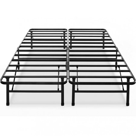 Bed Frame Queen Modern Bi-Fold Folding Metal Bed Frame Mattress ...