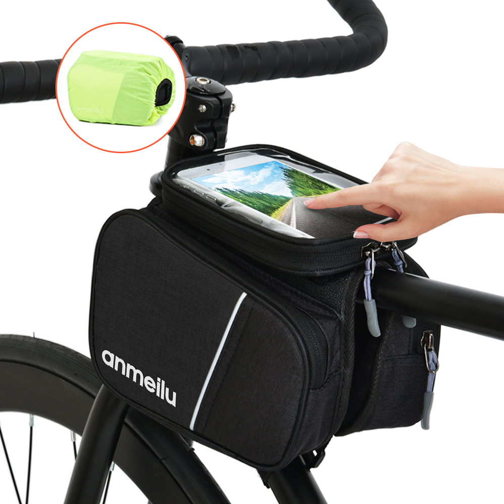 Bicycle Frame Front Tube Bag rainproof two side Pouch Cycling Phone  YuDuI WjHWf