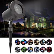 Clearance! 12Pattern Outdoor Moving LED Laser Light Projector Landscape Christmas Xmas Lamp