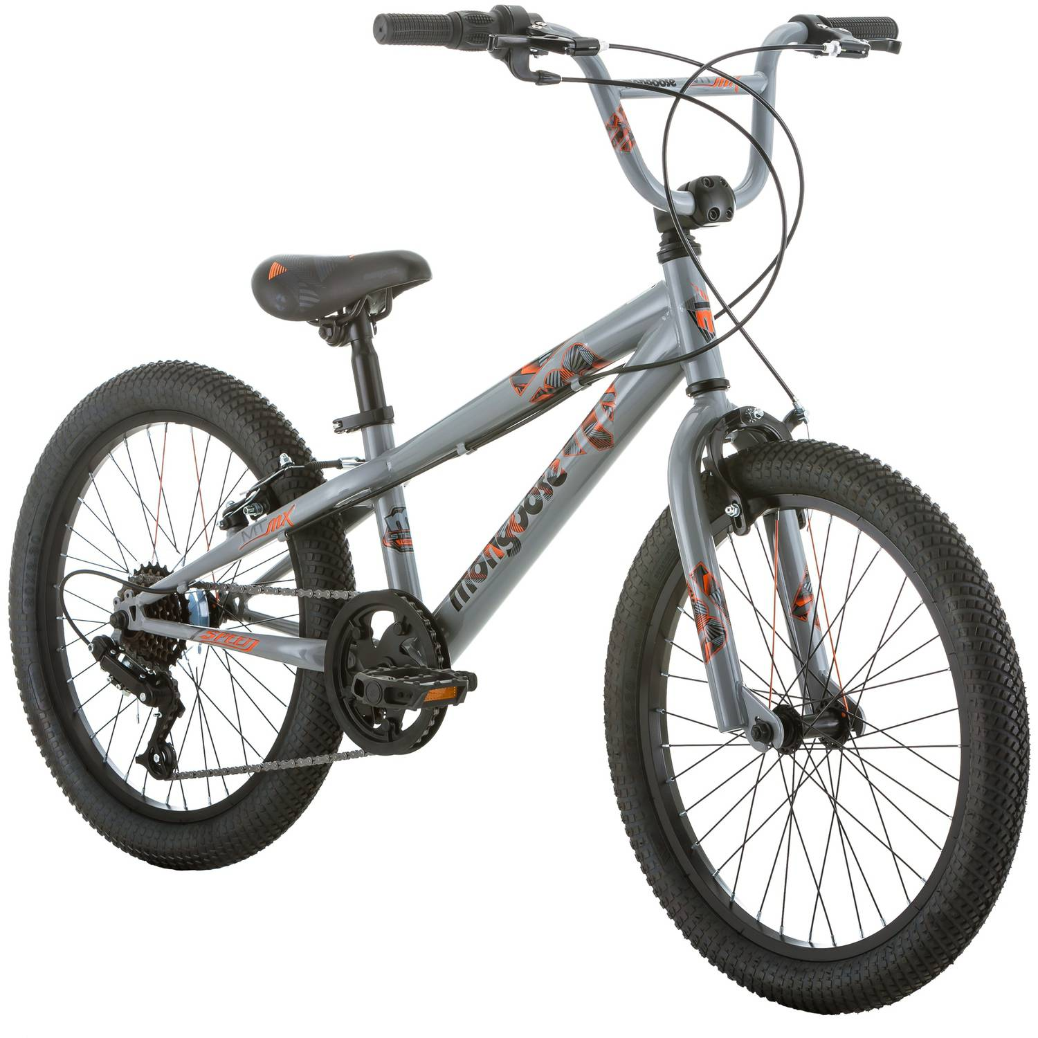 "20"" Mongoose MTMX Boys' Freestyle Bike, Gray"