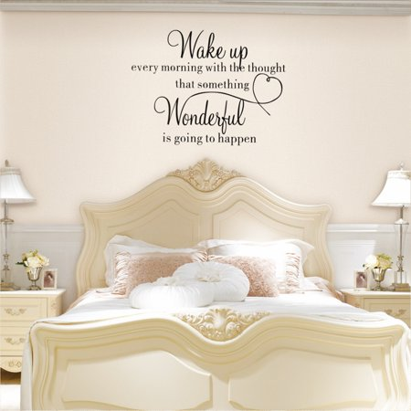 Wake Up Wonderful DIY Wall Sticker Home Decoration Bedroom Living Room Removable Vinyl Decal Art - image 8 of 10