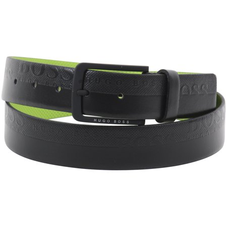 Coated-leather belt with embossed logo detail HUGO BOSS WI9jRt3QV