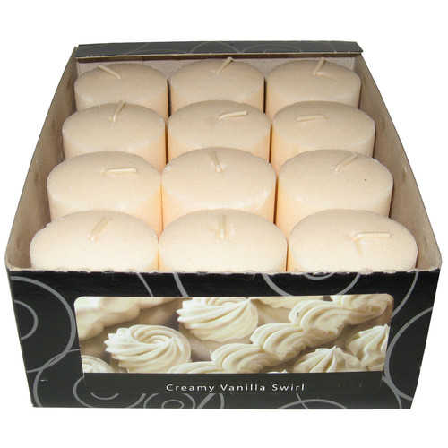 Fortune Products Candle-Lite Vanilla Wafer Votive Candle (Set of 12)