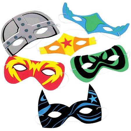 Foam Superhero Masks, Each MasksParty Cuffs Birthday Count Different Eye Favors Button Book Favor Birthdays Special Pack Pieces BoysGirls 11.., By U.S. - Foam Superhero Mask