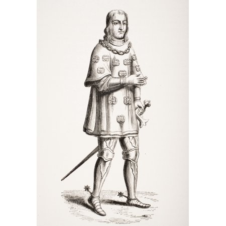 Louis De Mallet Lord Of Graville Admiral Of France 1448 To 1516 Depicted In 1487 In Costume Of War And Tournament From A 16Th Century Engraving - 16th Century Costumes