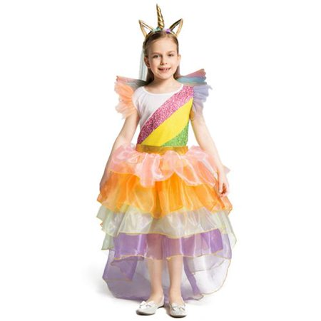 Bangkok Halloween 2019 (KABOER 1 PCS Fashion 2019 New Children's Costumes Halloween Cosplay Costume Unicorn)