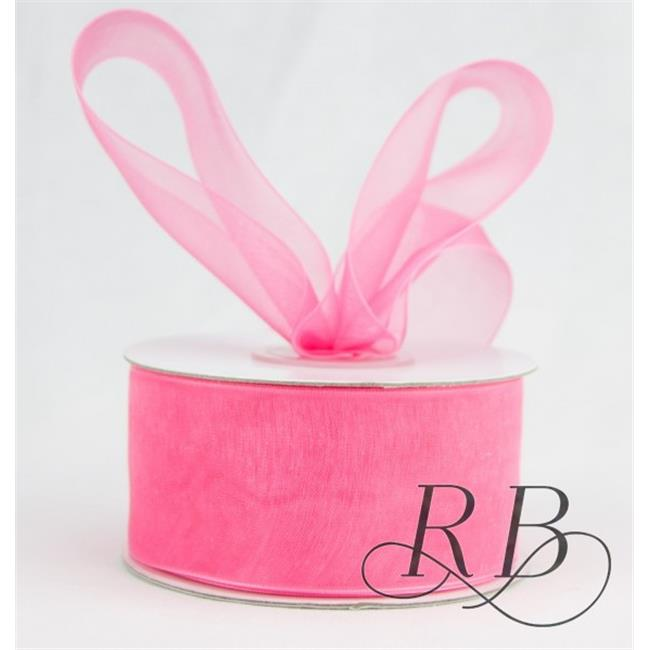 Ribbon Bazaar 2594 1.5 in. Sheer Organza Ribbon, Rose Pink - 100 Yards