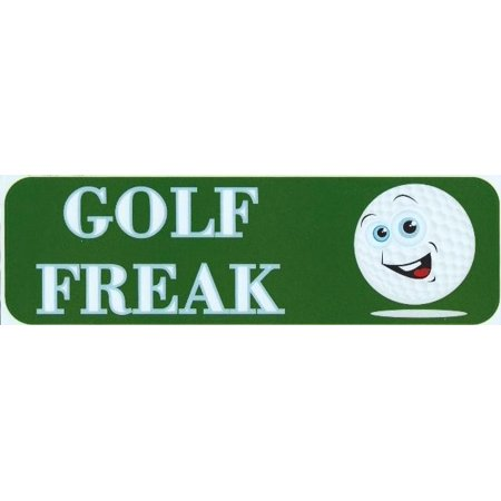 Stickertalk  Brand 10In X 3In Golf Freak Bumper Magnets Magnetic   Magnet Golf Balls