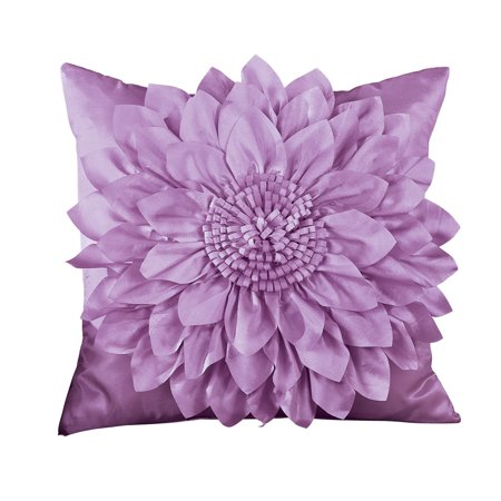 (Elegant Blooming Flower Pillow Cover, Lilac)