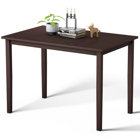 Gymax Modern Rectangle Dining Table Wooden Legs Kitchen Living Room Furniture