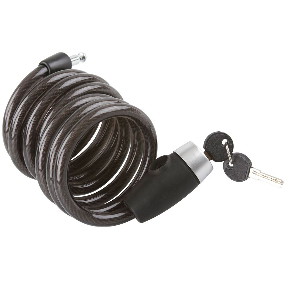 Self-Coiling Cable Lock for Bicycles and Motorcycles