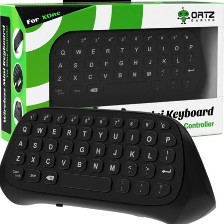 Keyboard Video Game - Ortz Xbox One Chatpad Keyboard KeyPad [with Headset/Audio Jack] Best for Wireless Chat - Built in USB Receiver for Xbox One Game Controller - Easy Sync with your Controller