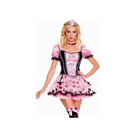 Music Legs Pink Couture Queen Of Heart Costume 70304 Pink/Black - Music Costumes Ideas
