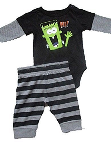 Baby Toddler 2pc One Piece and Pant Set Hi Frankenstein (0-3m)