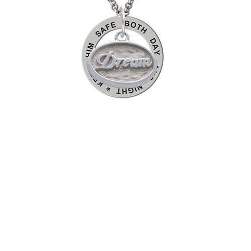 Dream - Oval Seal Keep Him Safe Affirmation Ring Necklace