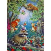 Raccoon & Friends Forrest Animal Scene Garden Flag