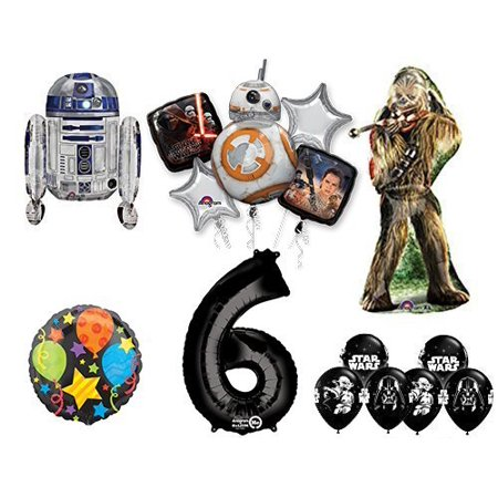 The Ultimate Star Wars 6th Birthday Party Supplies and Balloon decorations - Star Wars Decorating Ideas